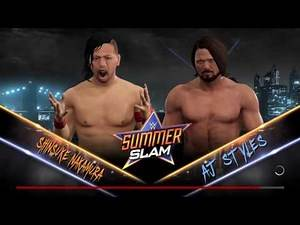 WWE 2K17 Shinsuke Nakamura vs AJ Styles|Epic Dream Match!!!!!|New ATTIRE