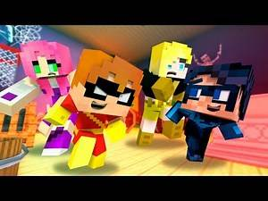 Who's Your Daddy? Speedy and Nightwing vs Terra and Starfire! (Minecraft Baby Roleplay) Teen Titans