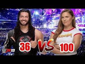 "Roman Reigns ""36 Rated"" vs Ronda Rousey ""100 Rated"" 