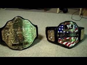WWE United States Championship vs. World Heavyweight Championship Replica Title Belt Comparison