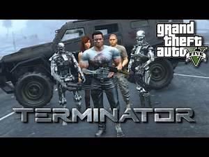 Terminator MOD! GTAV Preventing Judgement Day In LS!