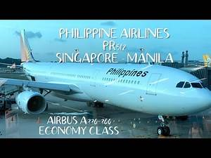 FLIGHT EXPERIENCE: PHILIPPINE AIRLINES PR512 AIRBUS A330-300 SINGAPORE TO MANILA ECONOMY CLASS