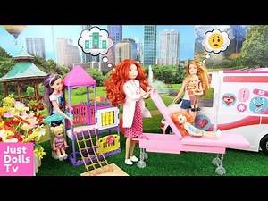 Barbie Hurts Her Leg 💙 Chelsea Breaks Her Arm 💙 Barbie Doctor Hospital 💙 Barbie Hospital Story