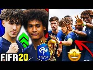 THE FRANCE U17 WORLD CUP WONDERKIDS IN FIFA 20 CAREER MODE!!! FIFA 20 Growth Test Rebuild