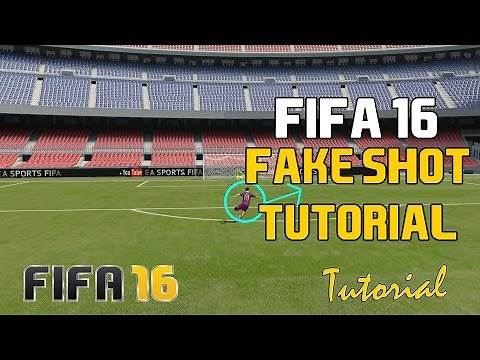 Fifa 16 Dribbling Tutorial: Fake Shot (When to Perform the Fake Shot - Best First Touch Skill Move)