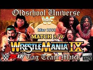 Oldschool Universe #013 WRESTLEMANIA | Match 3: The Steiner Brothers VS. The Headshrinkers