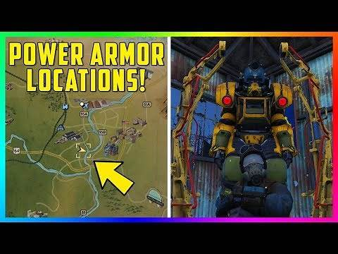 Fallout 76 - POWER ARMOR LOCATIONS! 10 Easy To Find Suits Of Power Armor EARLY In The Game! (FO76)