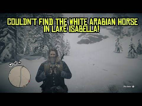 Couldn't find the white Arabian horse at Lake Isabella - Red Dead Redemption 2