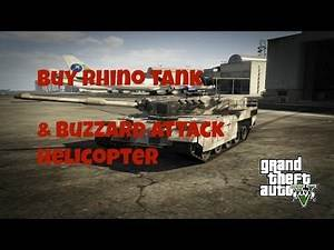 How To Buy Rhino Tank Buzzard Helicopter At Any Rank! GTA Online