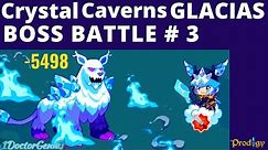 Prodigy Math Game: DEFEATING the GLACIAS BOSS #3 in CRYSTAL CAVERNS & I got Blizzard Helmet & Buster