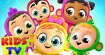 Five Little Monkeys Jumping On The Bed | Kids Tv Nursery Rhymes & Baby Songs