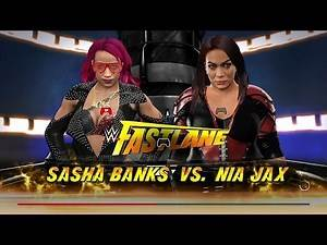 WWE 2K17 | SASHA BANKS VS. NIA JAX (Fastlane 2017)
