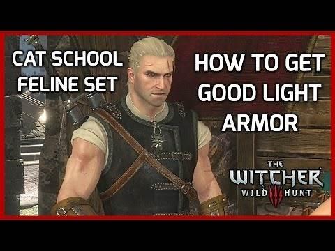 Witcher 3: Light Witcher Gear Guide - Feline/Cat School Armor Set