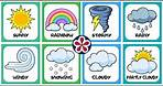 Weather for Preschool Kids | Sunny, Cold, Rainy, Stormy, Hot, Cloudy, Windy, Snowy Weather