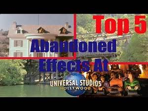 Top 5 Defunct Universal Studios Hollywood Attraction Effects | Ride talk Episode #2