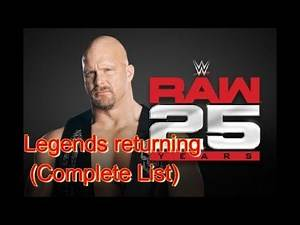 WWE Legends returning for Raw 25 2018 (Complete List)