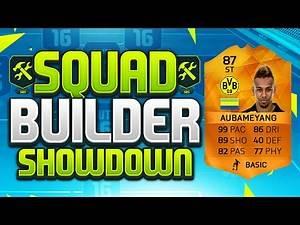 FIFA 16 SQUAD BUILDER SHOWDOWN!!! 99 PACE AUBAMEYANG!!! MOTM Aubameyang Squad Builder Duel