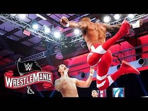 Montez Ford leaps over the top rope: WrestleMania 36 (WWE Network Exclusive)