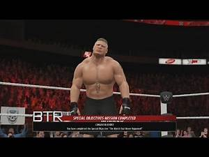 WWE 2K16 2K Showcase Special Objectives The Match That Never Happened Brock Lesnar vs Stone Cold