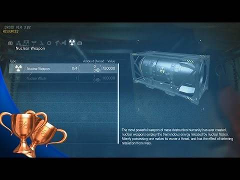 Metal Gear Solid 5 The Phantom Pain - How to Build A Nuke (Deterrence and Disarmament Trophy)