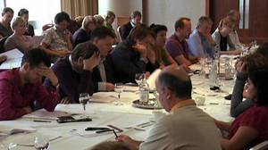 Doctor Who - the read through of a script