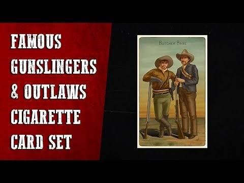 Famous Gunslingers & Outlaws Cigarette Cards Location Guide RDR2