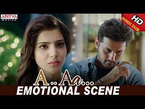 Nithiin Samantha Emotional Love Scene | Nithiin, Samantha | Trivikram | A Aa (Hindi Dubbed Movie)