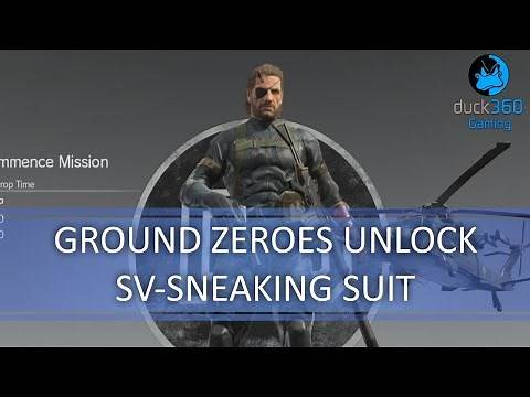 Ground Zeroes SV Sneaking Suit Save Unlock - Metal Gear Solid V: The Phantom Pain