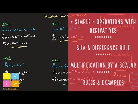 Sum and Difference Rule for Differentiation, Multiplication by a Scalar - Rules & Examples