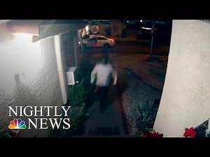 Suspect Arrested After Doorbell Camera Captures Beating Of Woman   NBC Nightly News