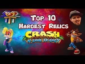 Top 10 Hardest Relics | Crash Bandicoot N Sane Trilogy