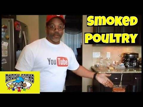 Smoked Poultry (Turkey legs and a Chicken)