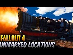 Fallout 4 Unmarked Secret Locations - Interactable ArkJet Engine Rocket & More (Fallout 4 Locations)