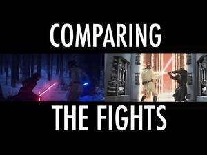Comparing The Prequel And Sequel Lightsaber Duels In a Very Simple Way