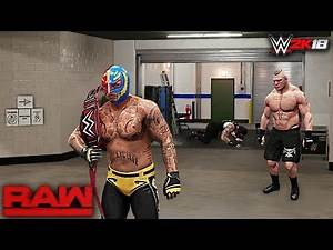 WWE 2K18 Story: Rey Mysterio Returns Raw 2018 ft. Brock Lesnar, Roman Reigns