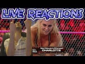 Charlotte....Again?!? Live Reactions - Sasha Banks v Charlotte - Hell In A Cell 2016