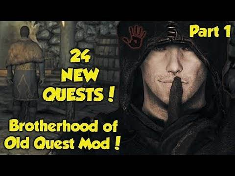 "24 NEW DARK BROTHERHOOD QUESTS! Skyrim ""Brotherhood of Old"" Quest Mod! (Part 1)"