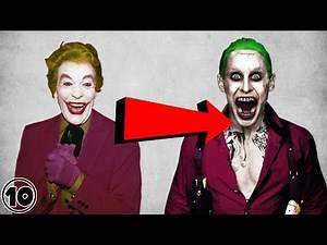 Top 10 Super Villains Before And After