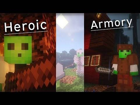 Minecraft: Look At Those Weapons! Heroic Armory 1.12.2 Mod Showcase