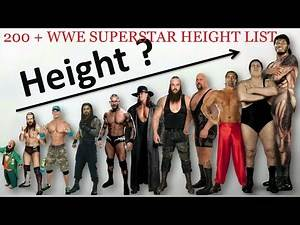 WWE superstars Height and Weight Complete List