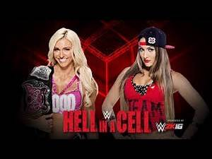 Charlotte vs Nikki Bella | Hell in A Cell 2015 Highlights | WWE2k15