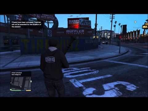 Give Weapon Cheat Code for Grand Theft Auto V (GTA 5)