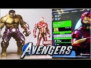 Marvel's Avenger Game - Character Customization Menu & NEW STARK AVENGER SUITS!