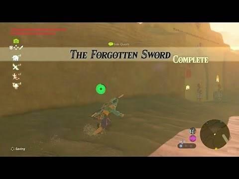 Zelda: Breath of the Wild   The Forgotten Sword Side Quest - Wasteland Tower Region