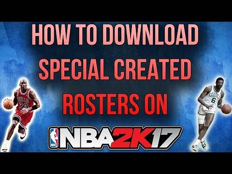 NBA 2K17 HOW TO DOWNLOAD COMMUNITY ROSTERS/MY LEAGUE