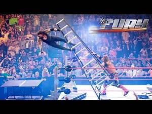 15 Superstars smashing through stacked tables: WWE Fury
