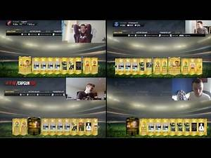 FIFA 15 4 WAY PACK OPENING!!! FT INSANE PLAYER - w/ RossiHD AJ3FIFA CAPGUNTOM