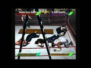 WWF Wrestlemania X8 (Gamecube) The Dudley Boys vs Hardy Boyz TLC Match