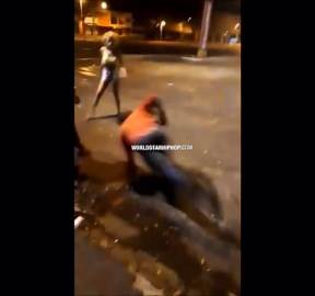 Paid The Price: Man Gets Knocked Out Cold With A Helmet For Hitting A Woman! (Rewind Clip)