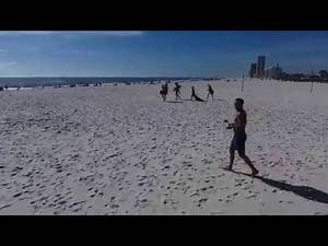 Gulf Shores, Alabama in January 2017 Its a beautiful day at the beach with Patsy